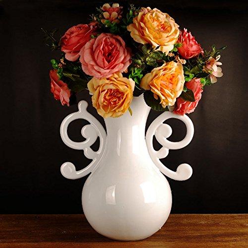 Lx.AZ.Kx Moderne und Minimalistische Ornamente Emulation Blumenvasen Künstliche Blumen Home Zubehör Das Wohnzimmer ist mit Blumen geschmückt.I, Kap. A.)