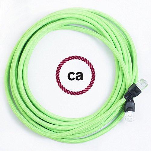 lan-kabel-ethernet-cat-5e-rj45-rund-berzogen-mit-textil-seideneffekt-einfarbig-fluo-grn-rf06-5-meter