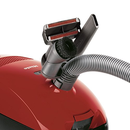Miele Classic C1 Junior Power Line Bagged Cylinder Vacuum Cleaner, 4.5 L, 1400 W – Red