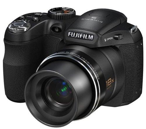 Fujifilm Finepix S1800 Digitalkamera (12 Megapixel, 18-fach opt.Zoom, 7,6 cm Display, Bildstabilisator) schwarz