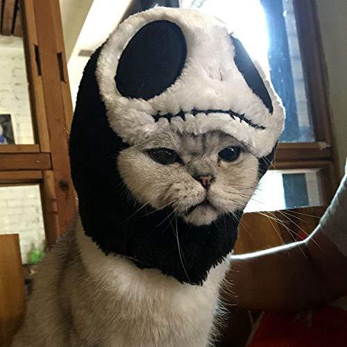 FOONEE Katze Halloween Kostüm SAMT Hut süß Tierform Design Perücke Cosplay Halloween Party Kleid Kostüm für Kleine Katzen oder Hunde Verkleiden Totenkopf