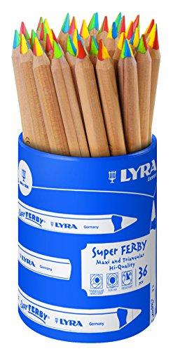 LYRA Super Ferby 4-Color Runddose mit 36 4-Colorstiften, Sortiert