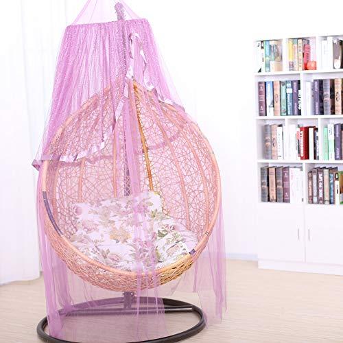 YIKANWEN Baby Baldachin Betthimmel Kinder Babys Bett Bettvorhang Garn Deko Moskitonetz für Prinzessin Spielzelte Kinderzimmer & Schlafzimmer Dekoration (Traube lila )