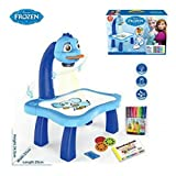 #9: RIANZ All New Projector painting drawing activity kit table for Children (Frozen Princess)