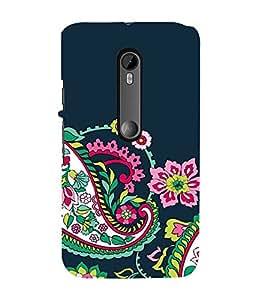 Fuson Designer Back Case Cover for Motorola Moto G Turbo Edition :: Virat FanBox Moto G Turbo Virat Kohli (Temple design pink Flowers Flowers flower Buds Green Flowers)