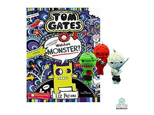 Schneiderbuch Tom Gates, Band 15: Monster? Welches Monster? (Gebundenes Buch) + 1. Coole Voodoo Puppe
