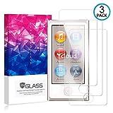 Ycloud [3 Pack] Protection écran pour iPod Nano 7th Gen, [9H Hardness, Anti-Rayures] Verre Trempé Protecteur d'écran Screen Protector, Appliquer à pour iPod Nano 7