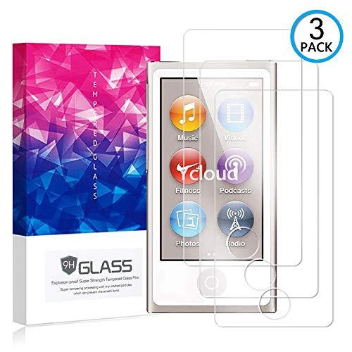 Ycloud [3 Pack] Panzerglas Displayschutzfolie für iPod Nano 7th Gen, Hartglas Staubdichter, 9H kratzfester Displayschutz Protector für iPod Nano 7th Gen Ipod Nano 3. Gen