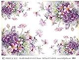Hobby e Blu Carta Riso Collezione Fiori, 3 Fogli da 43x30 cm