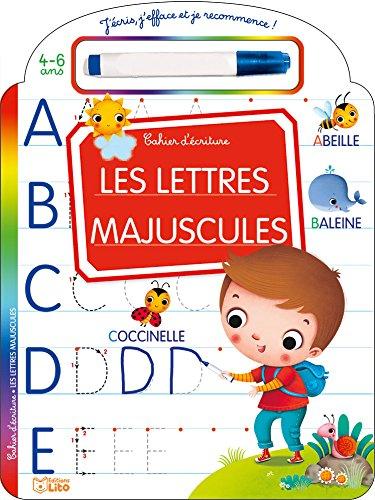 J'écris, j'efface et je recommence: Les lettres majuscules - Dès 4 ans par Marzia Giordano