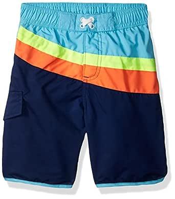 iXtreme Boys Stripe with Texture Swim Trunk IX809433-ROY-4