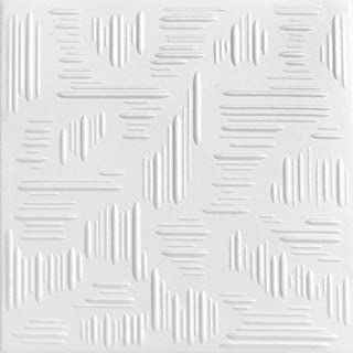 A la Maison Ceilings 1293 Country Wheat - Styrofoam Ceiling Tile (Package of 8 Tiles), Plain White