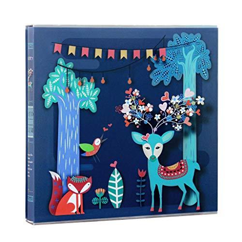 m Interstitial-Kinderalbum, Familienfotoalbum mit hoher Kapazität kann gespeichert Werden 640 Fotos Fotos Tourismus lieben (Color : Multi-Colored) ()