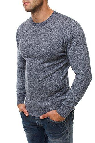 OZONEE Herren Pullover Hoodie Sweatshirt BRUNO LEONI 235 Blau