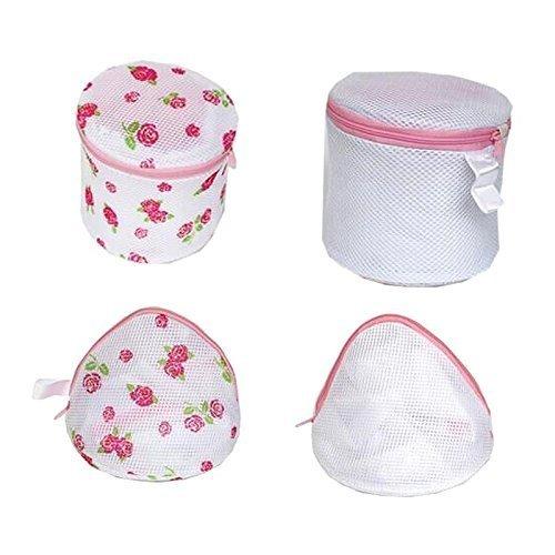 4x CZICO Reißverschluss BH Taschen Mesh Wäschesäcke für Waschmaschine Waschmaschine waschen & Trockner, Taschen perfekt für Schutz Dessous, Unterwäsche, Schals, Bras, Strumpfwaren, teure Blusen, Baby Kleidung, Pullover (Haken Garment Bag)
