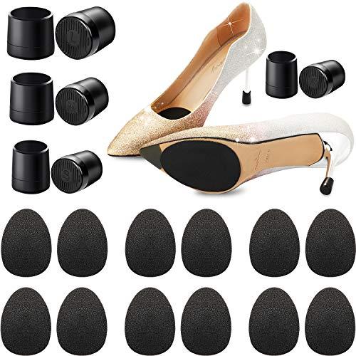 10 paia antiscivolo tacco alto adesivi, 8 paia tallone tappi di ricambio coperture per tacco alto protezione scarpe