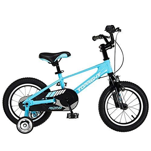 Bicyclehx Kinderfahrräder in Größe 12,14,16,18 Zoll mit Heavy Duty Abnehmbaren Stabilisatoren Kinder Fahrrad Kind Geschenk (Color : Blue, Größe : 16 inch)