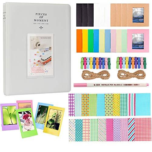 Anter Accessoires d'album Photos fit to Fujifilm Instax Mini caméra, pignon HP, Polaroid Zip, Snap, Snap Touch Films d'imprimante avec des Autocollants de Film, Album et Cadre