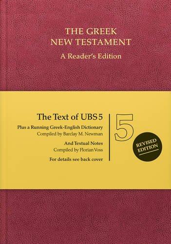 Ubs5 Greek New Testament: A Reader's Edition