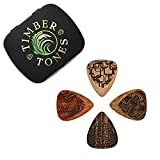 Laser Tones LASTGMT4 Laser etched Timber Plectrums Lot de 4 médiators pour Guitare
