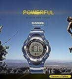 SunRoad FR826A, orologio casual da uomo per sport all'aperto, orologio per ore di corsa, altimetro, barometro, bussola, termometro, meteo, contapassi, orologio digitale multifunzionale