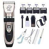 Tierhaarschneider Hundeschermaschine Schermaschine für Hunde und Katzen Wiederaufladbare Haarschneider Elektrische Grooming Clipper