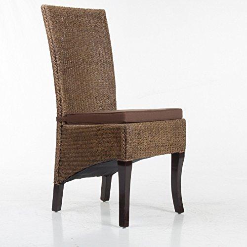 SIX Stuhlkissen Sitzpolster Sitzkissen Stuhlauflage Dekokissen braun 5cm dick