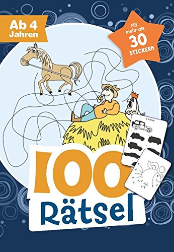 Preisvergleich Produktbild 100 Rätsel für Jungen ab 4 Jahren: Mit mehr als 30 Stickern