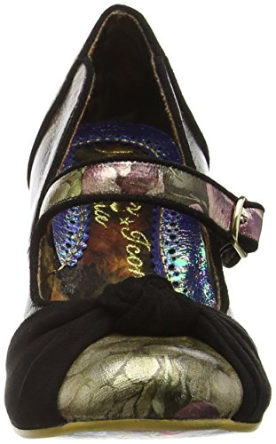 Irregular Choice - Floral Waves, Scarpe col tacco Donna Nero (Black (Black Multi))