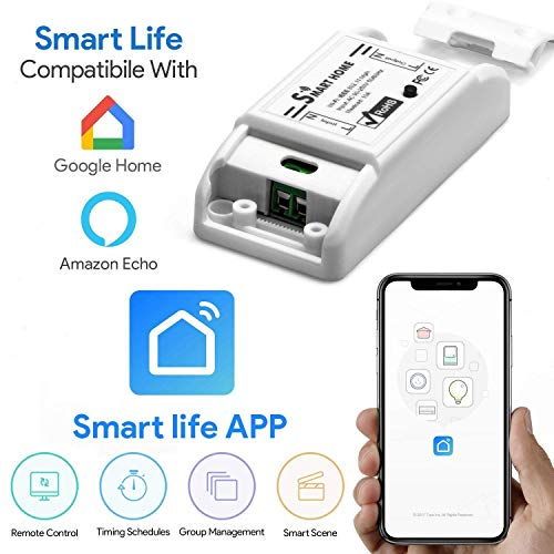 Smart WiFi Interruttore - Jiayida - Interruttore Di Controllo Remoto Interruttore Senza Fili Compatibile Perfettamente Con iOS/Alexa/Android/Amazon Echo