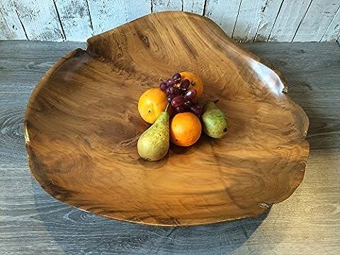 Rustic Wood Bowl or Serving Plate - Fruit Salad Dish