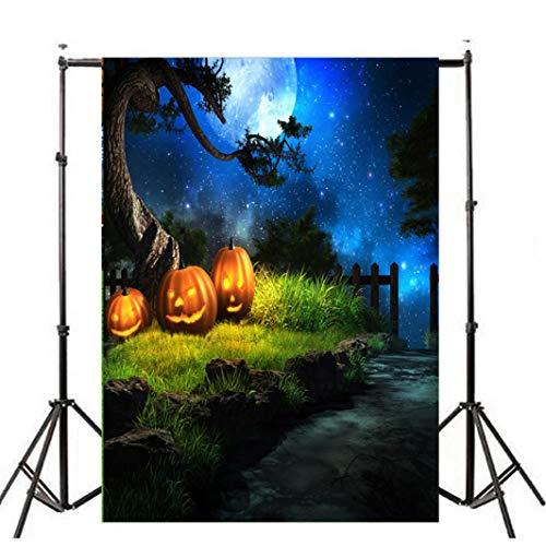 Selbstgemacht Kinder Kostüm Fledermaus - VEMOW Heißer Halloween Backdrops Kürbis Vinyl 3x5FT Laterne Hintergrund Blackout Fotografie Studio 90x150cm(Mehrfarbig, 90x150cm)