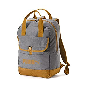 51F%2BbB3CmML. SS300  - PUMA Campus Woven Backpack, Unisex Adulto, Black/Buckthorn Brown, OSFA