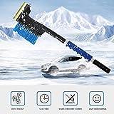 Foonee Schnee-Entfernungs-Set, 3-in-1-Auto-Sneebürsten-Set mit einziehbarem Schwamm-Griff zum Entfernen hartnäckiger EIS und Schnee, inklusive Eispickel, Schaufel und Bürste