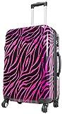 Koffer Zebra Pink Reisekoffer Trolley Beautycase Fa. Bowatex (M Koffer 57cm)