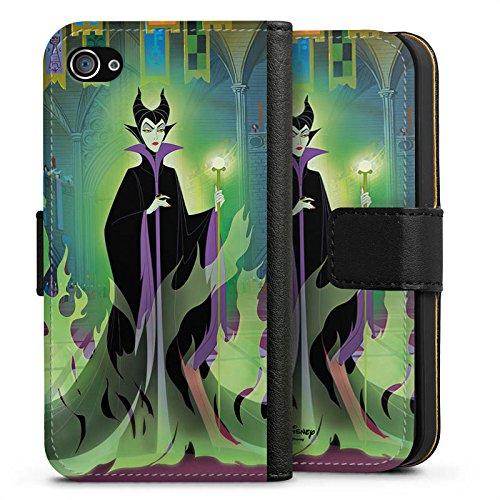 Apple iPhone X Silikon Hülle Case Schutzhülle Disney Dornröschen Merchandise Geschenk Sideflip Tasche schwarz