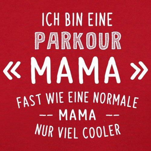 Ich bin eine Parkour Mama - Herren T-Shirt - 13 Farben Rot