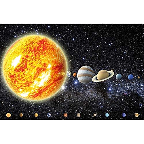 GREAT ART XXL Poster - Sonnensystem Planeten - Wandbild Dekoration Galaxie Cosmos Space Universum All Sky Sterne Galaxy Weltraum Earth - Wandposter Fotoposter Wanddeko Bild Wandgestaltung Motiv (140 x 100 cm)