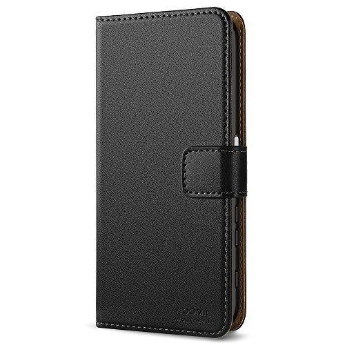 HOOMIL Sony Xperia XZ Hülle, Sony Xperia XZs Hülle, Handyhülle Sony Xperia XZ Tasche Leder Flip Case Brieftasche Etui Schutzhülle für Sony Xperia XZ/XZs Cover - Schwarz (H3188)