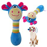 #4: Rrimin Funny Animal Shape Pet Puppy Dog Toys Plush Sound Squeaker Chewing Toys