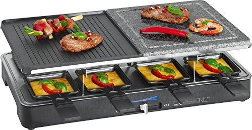 Clatronic-RG-3518-Raclette-grill-con-piedra-natural-y-placa-reversible-8-personas-1400-W-color-negro