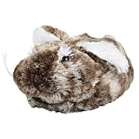 Ladies/Girls Faux Fur Bunny Rabbit Slippers Non-Slip Sole Novelty Floppy Ears