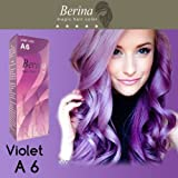 Berina Purple Violet Permanent Hair Dye Color Cream Professional use Color #A6