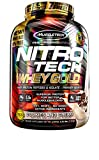 MuscleTech NitroTech Whey Gold, 100% reines Whey Protein, Whey Isolate und Peptide, Cookies & Cream, 2.51 g