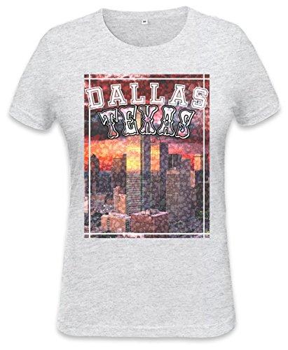 Dallas Texas Cityscape Womens T-shirt Large
