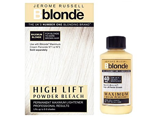 Duo Jerome Russell Bblonde High Lift Powder Bleach + Cremefarben Peroxid 40V12% Russell Duo