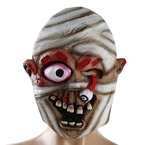 Yesiidor Mummy Scary Zombie Maske Halloween Neuheit Maske Bloody Kostüm Maske Cosplay Party Masken