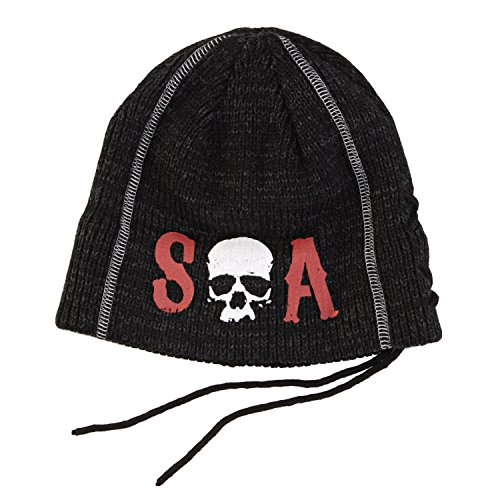 Sons Of Anarchy SOA Skull Slouch Knit Beanie Hat (Skull Knit Beanie)
