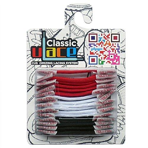 U-LACE CLASSIC Lacets plats élastiques pour chaussures et baskets Vans Converse Adidas Nike Homme Femme Enfant (CHILLVILLE)