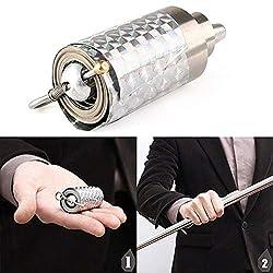 AimdonR Magische Ware ,Zauberstab, EIN Stab erscheint plötzlich von der Handfläche und streckt Sich aus. Magischer Stab aus Metall